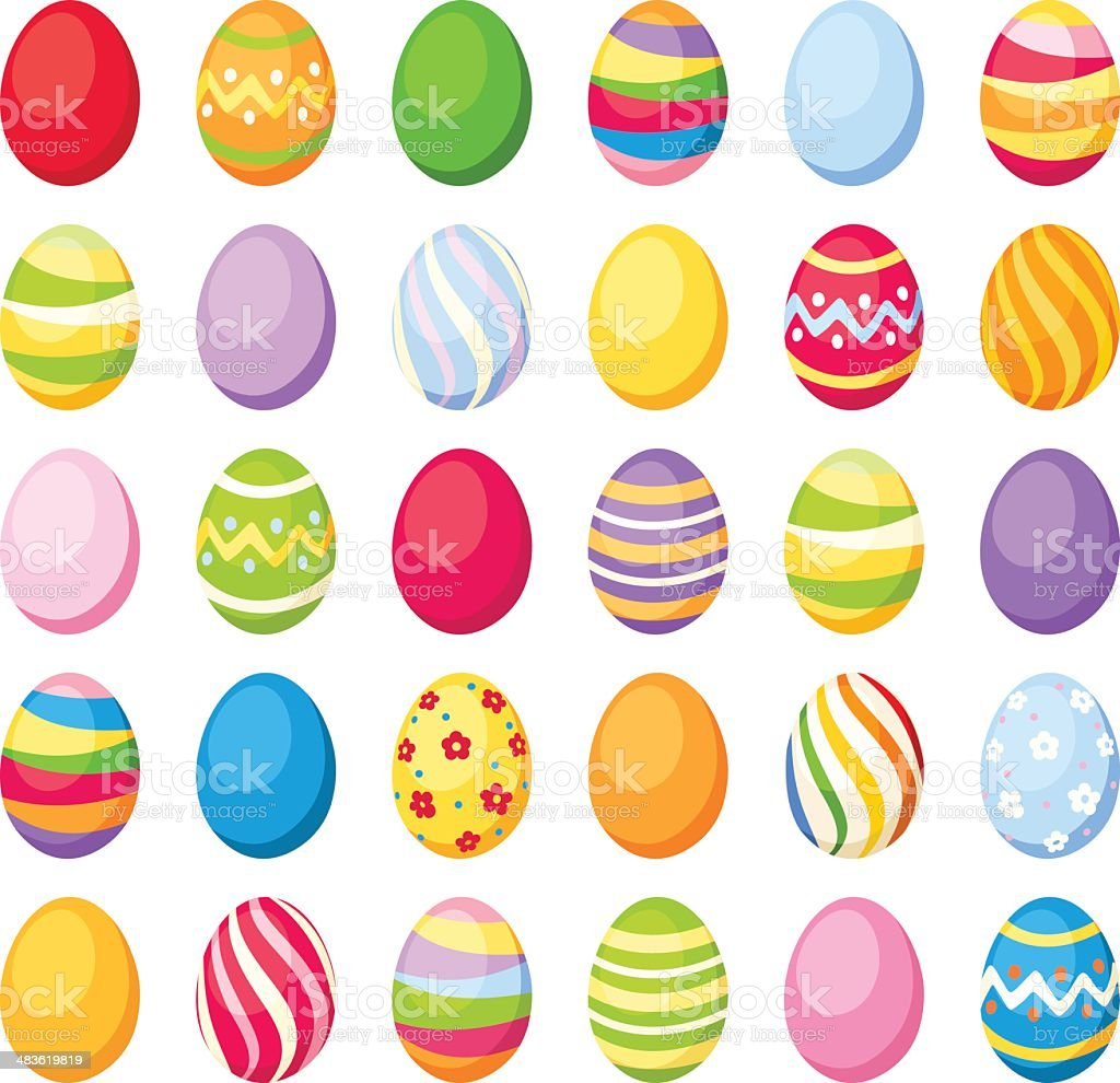 Easter colorful eggs. Vector illustration. vector art illustration