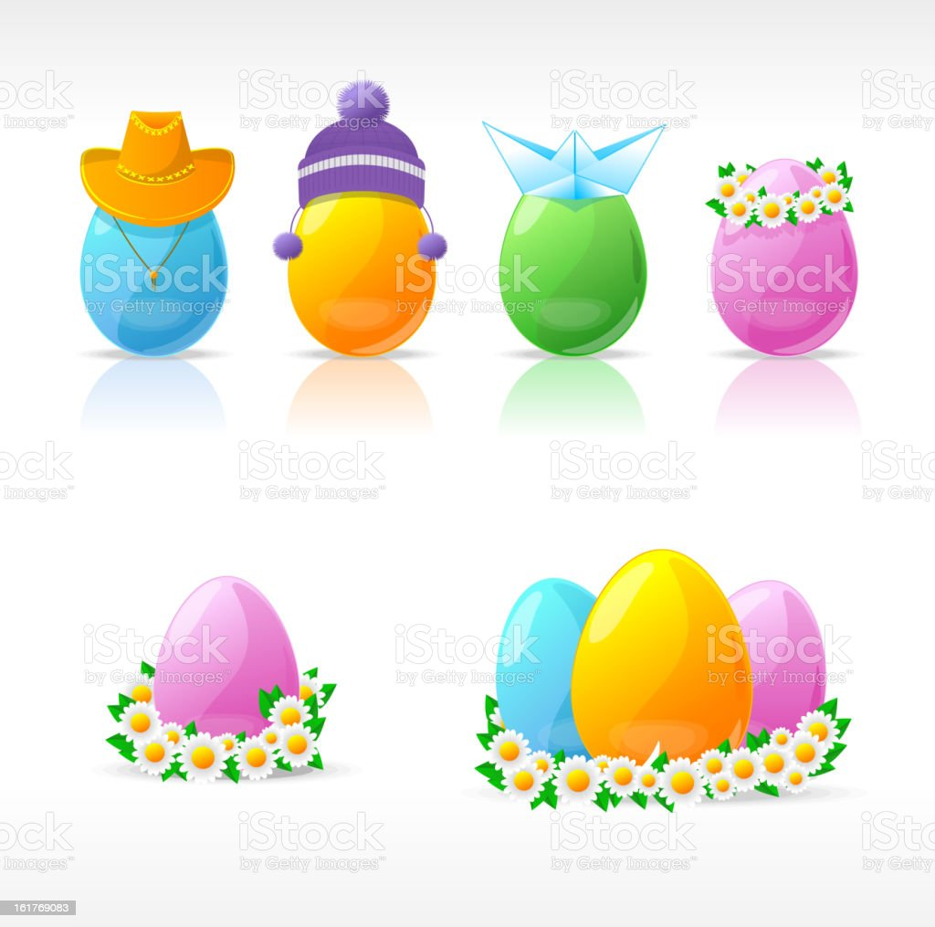 Easter design elements royalty-free stock vector art
