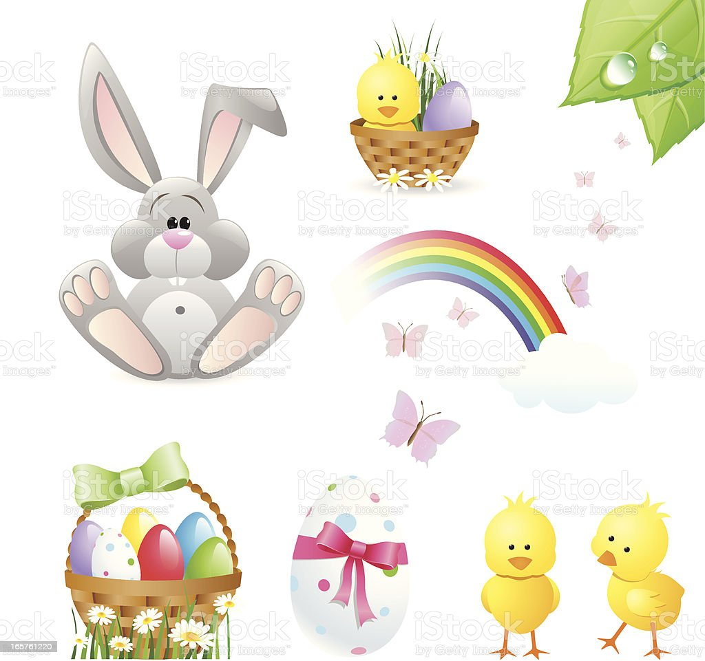 Easter Design Elements vector art illustration