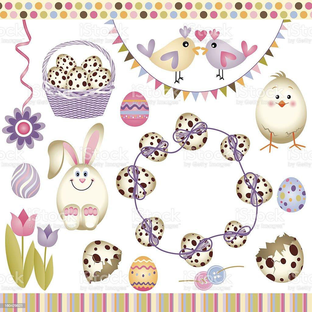 Easter digital elements royalty-free stock vector art