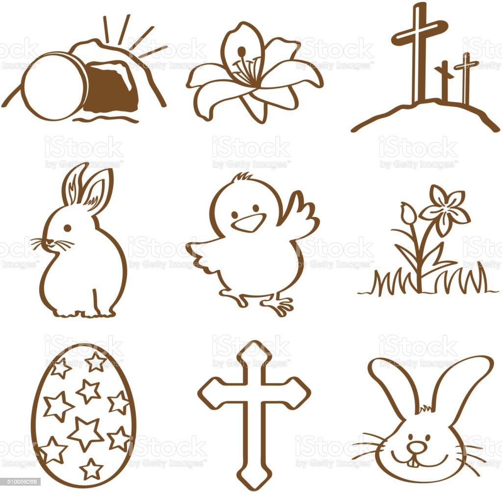 Easter doddle vector art illustration