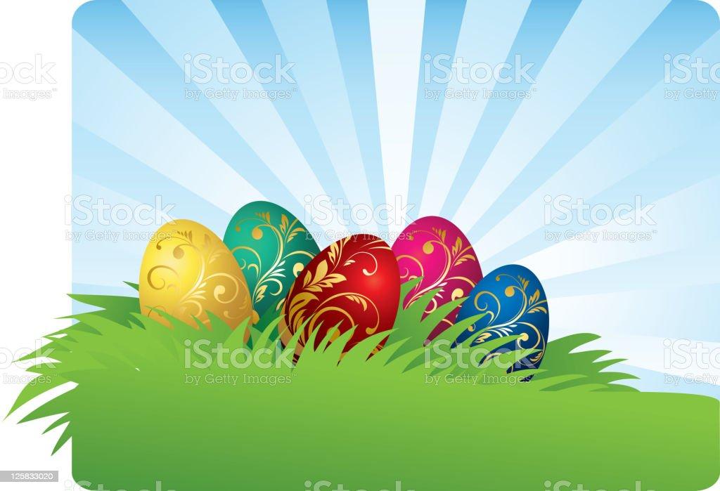 Easter egg banner royalty-free stock vector art
