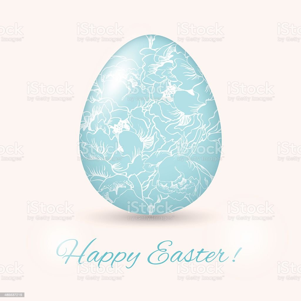 Easter Egg card. Vector illustration, royalty-free stock vector art