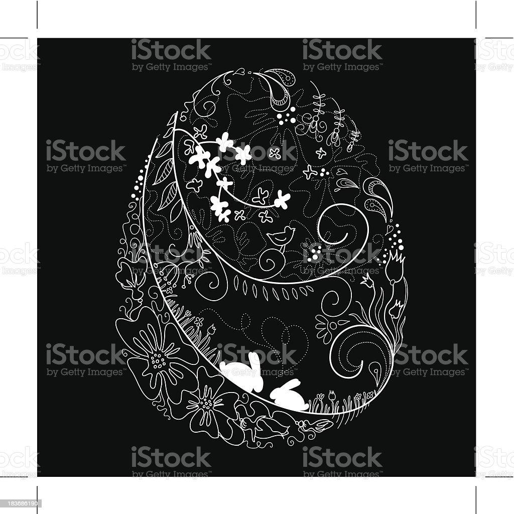 easter egg doodles royalty-free stock vector art