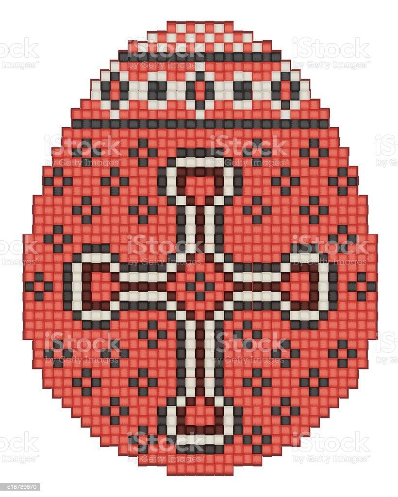 Easter egg, ethnic pattern vector art illustration