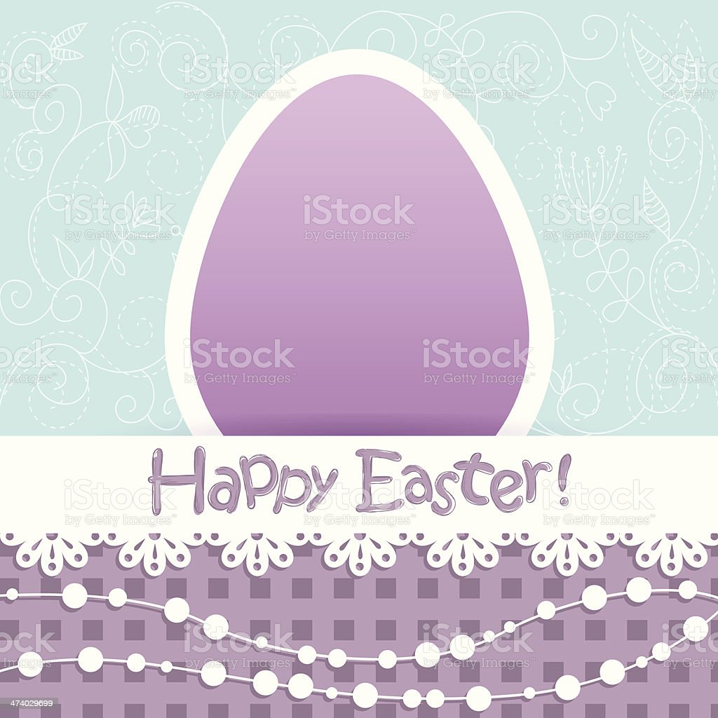 Easter egg floral card royalty-free stock vector art