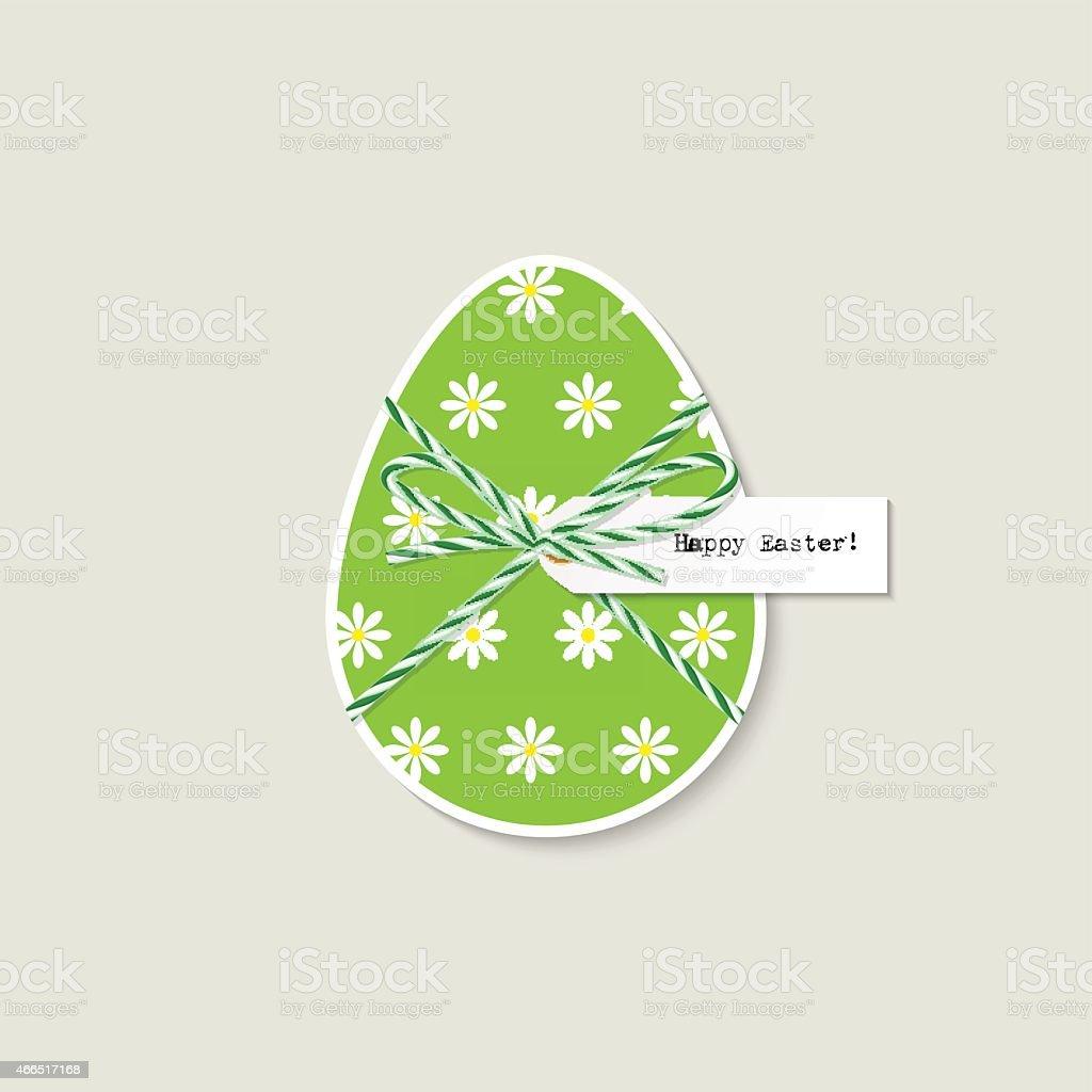 Easter egg greeting card vector art illustration