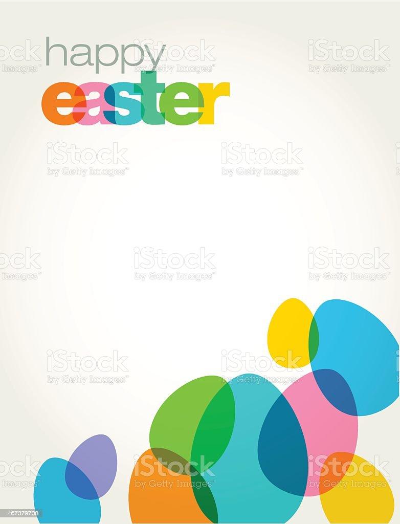 Easter Egg Greeting vector art illustration