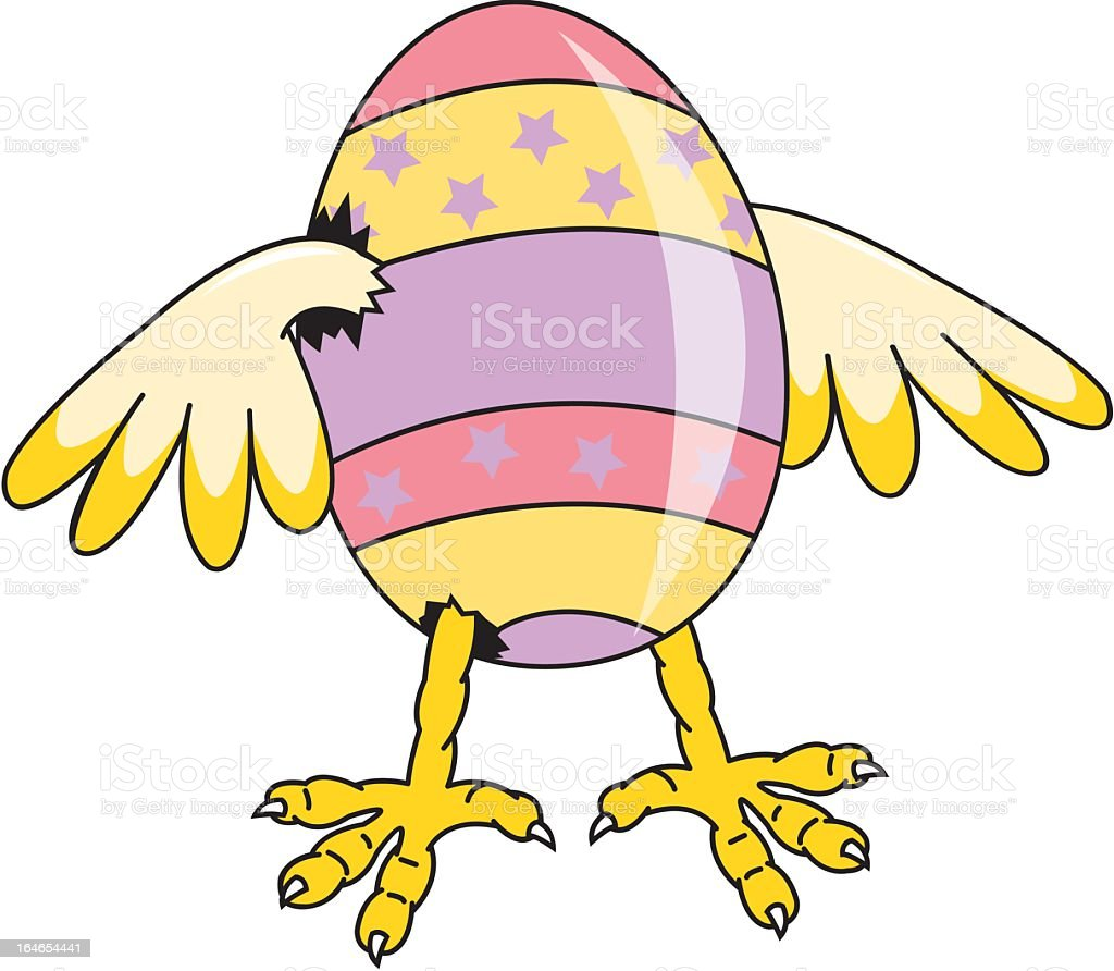 Easter Egg Hatching. royalty-free stock vector art