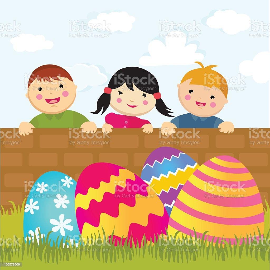 Easter Egg Hunt royalty-free stock vector art