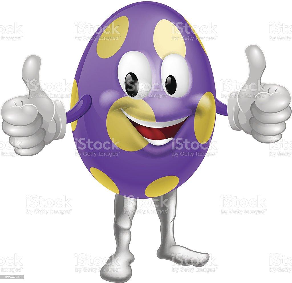 Easter Egg Man Illustration royalty-free stock vector art