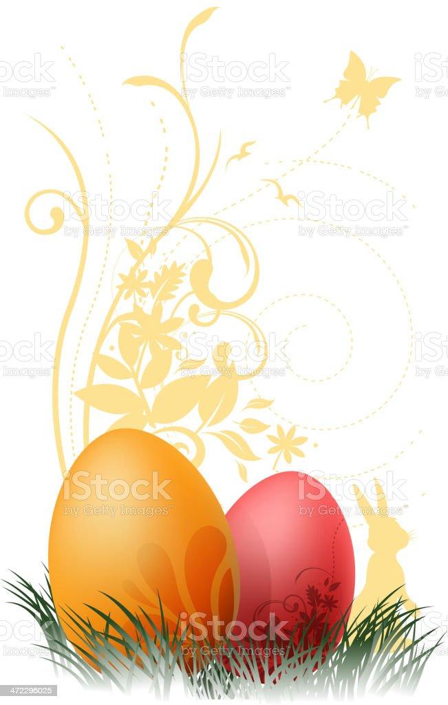 easter egg on nature royalty-free stock vector art