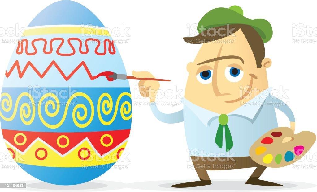 Easter egg painter royalty-free stock vector art