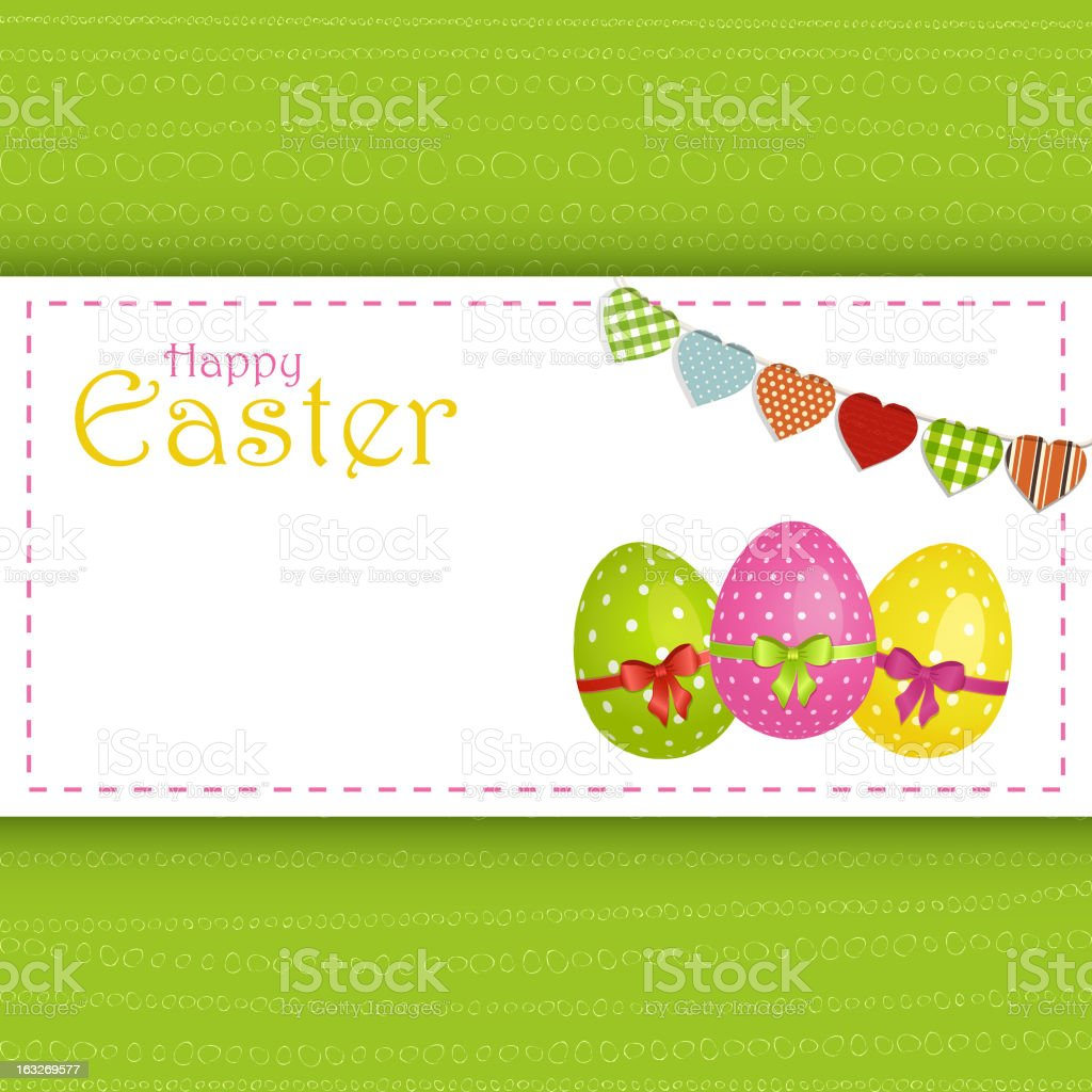 Easter Egg Panel Background and message royalty-free stock vector art