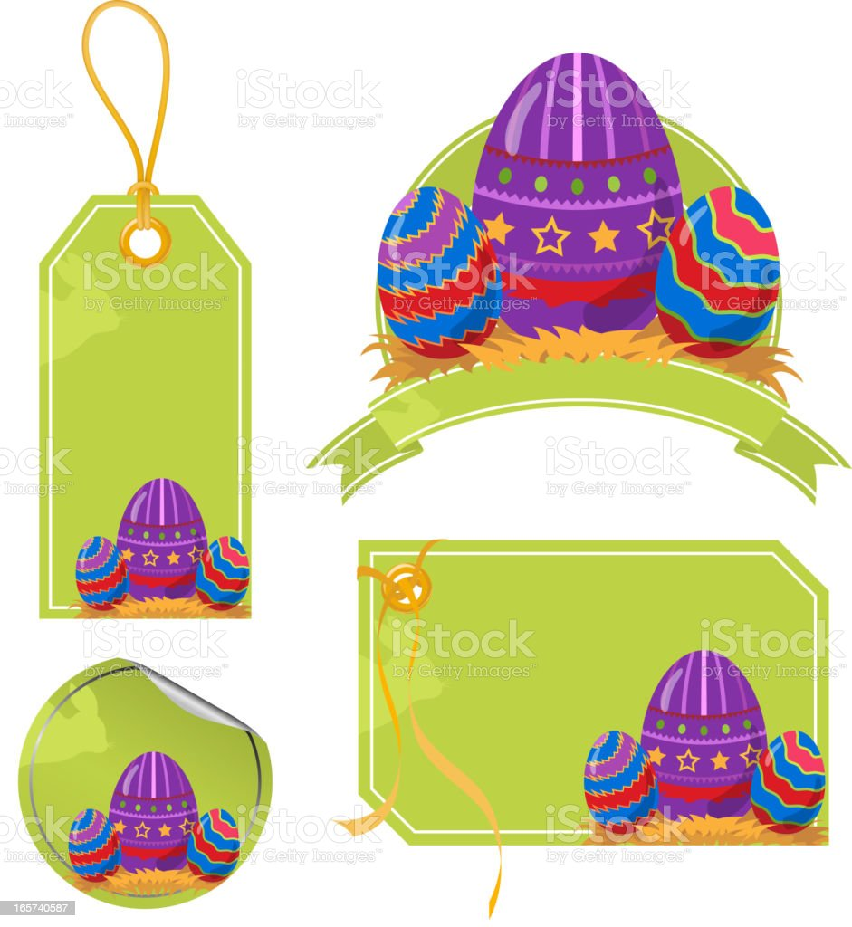 Easter Egg Price Tags royalty-free stock vector art