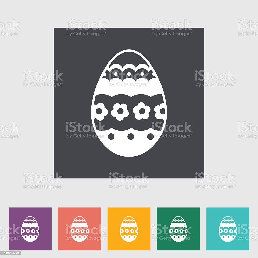 Easter Egg single icon. royalty-free stock vector art