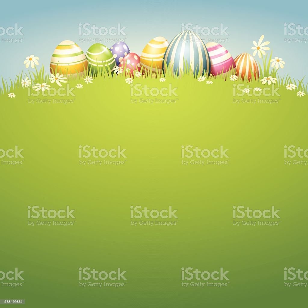 Easter Egg - Spring Field vector art illustration