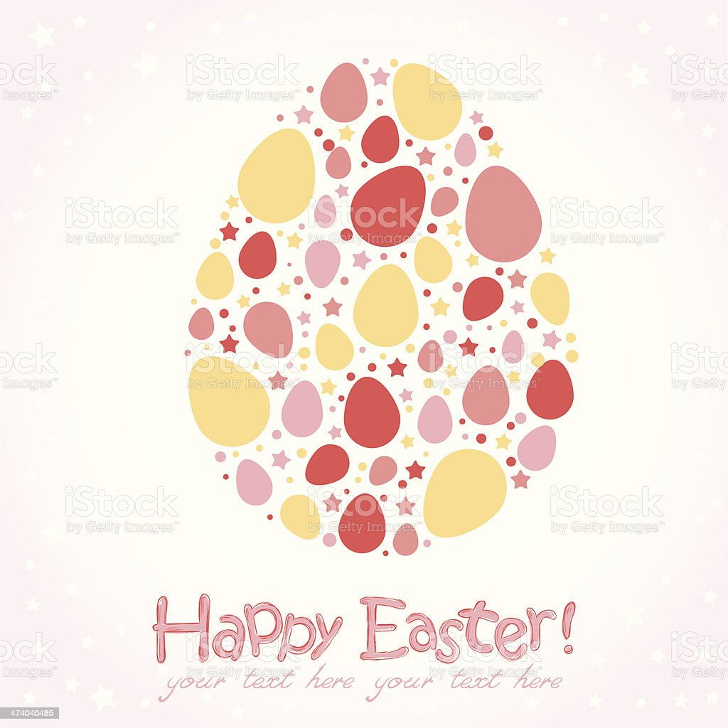 Easter egg stylized cute greeting royalty-free stock vector art
