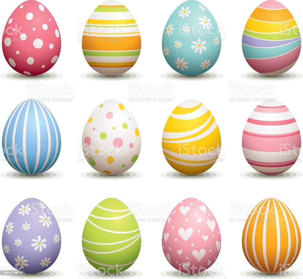Easter Egg vector art illustration