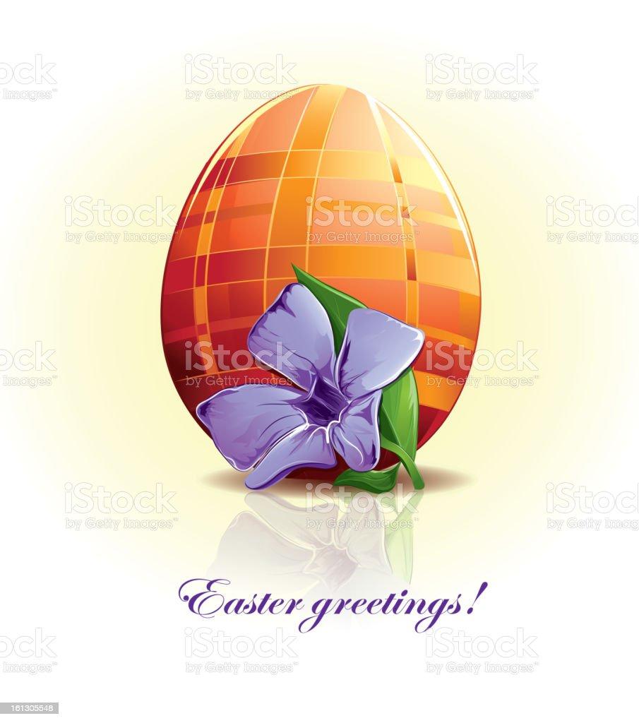 Easter egg with flower royalty-free stock vector art