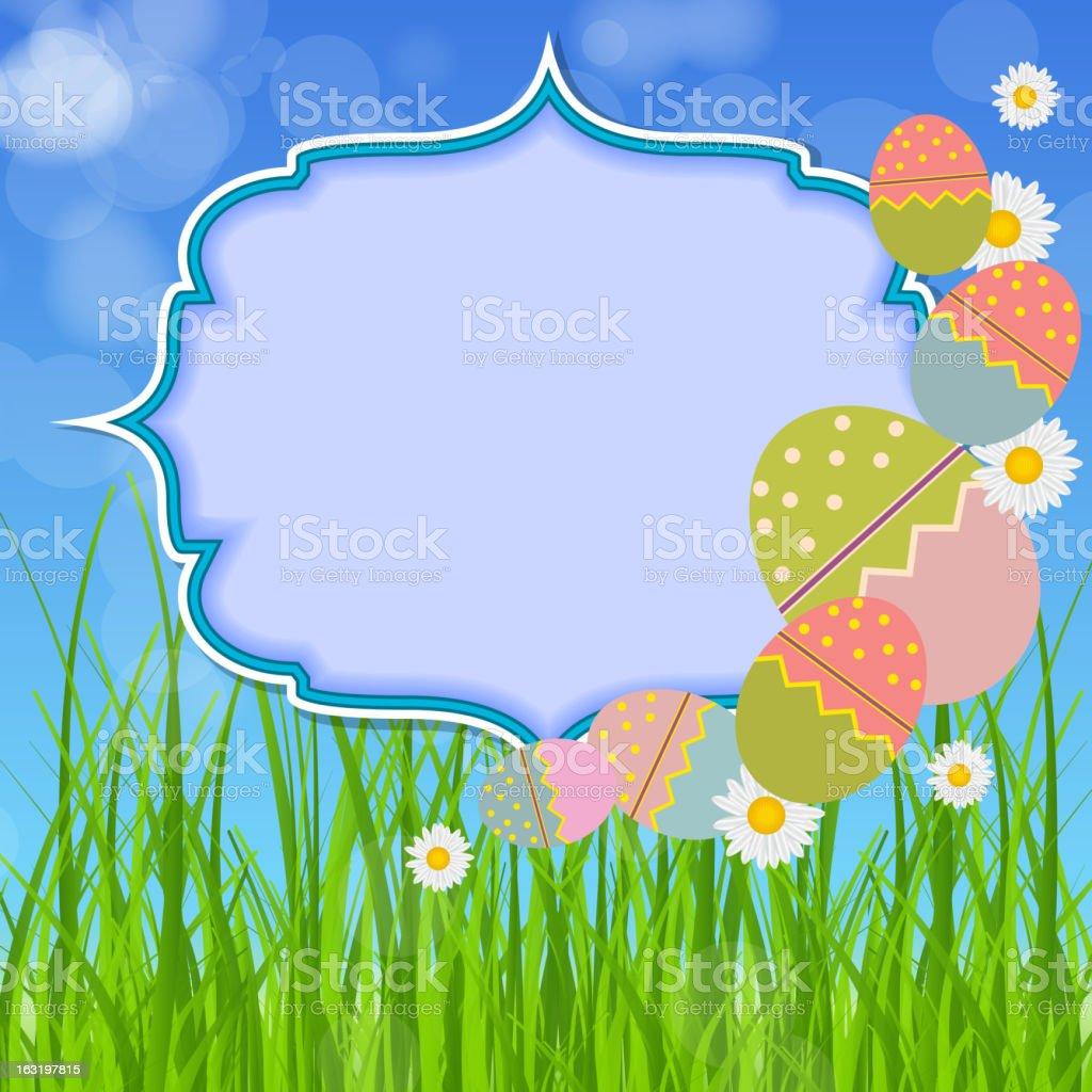 Easter eggs card. vector illustration royalty-free stock vector art