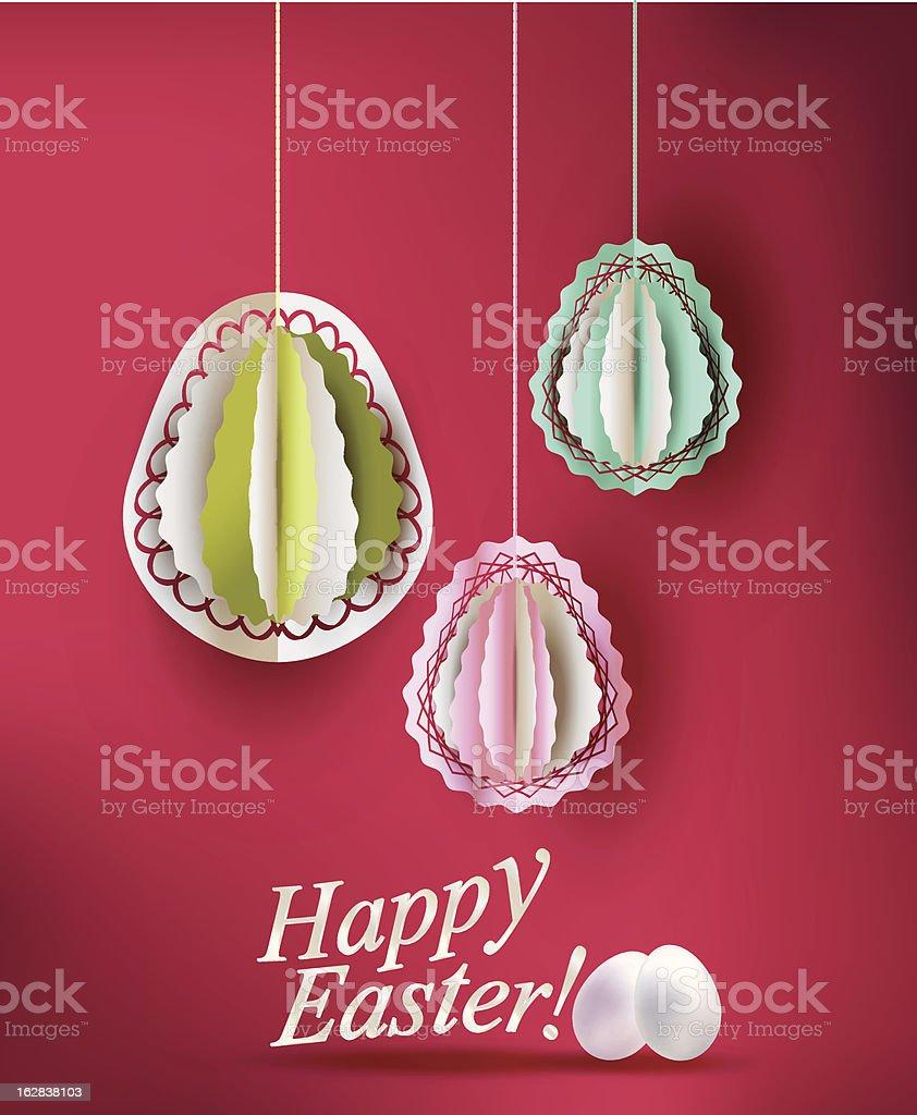 Easter eggs decoration vector illustration royalty-free stock vector art
