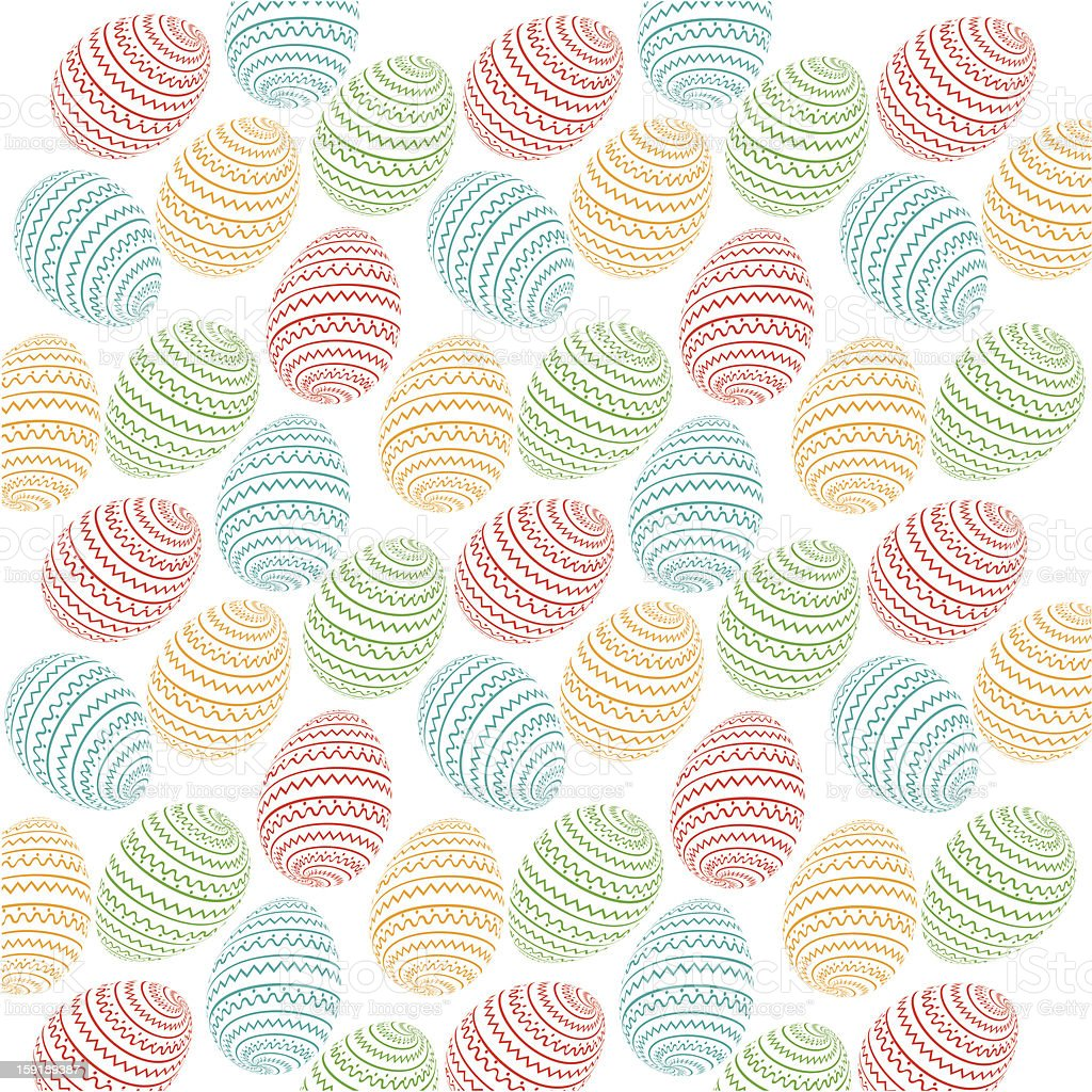 Easter eggs pattern royalty-free stock vector art