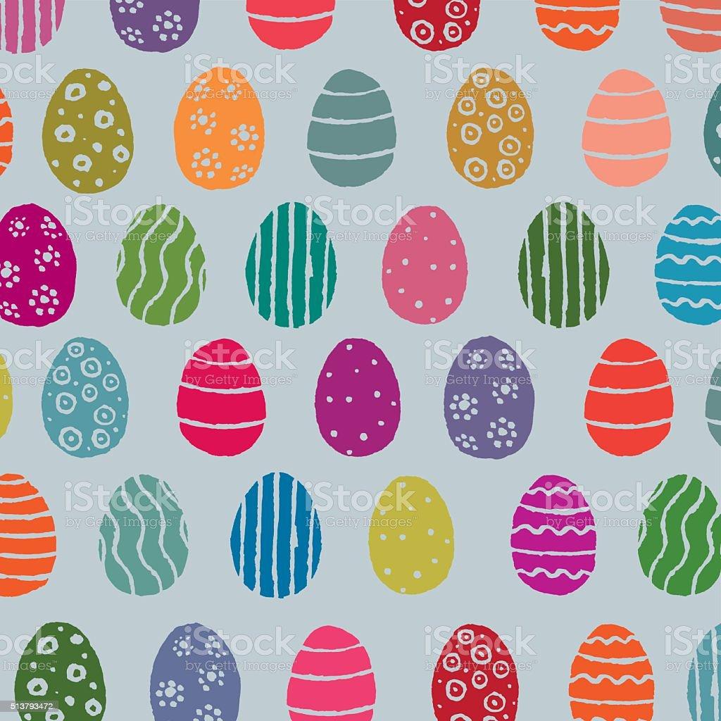 Easter Eggs Pattern vector art illustration