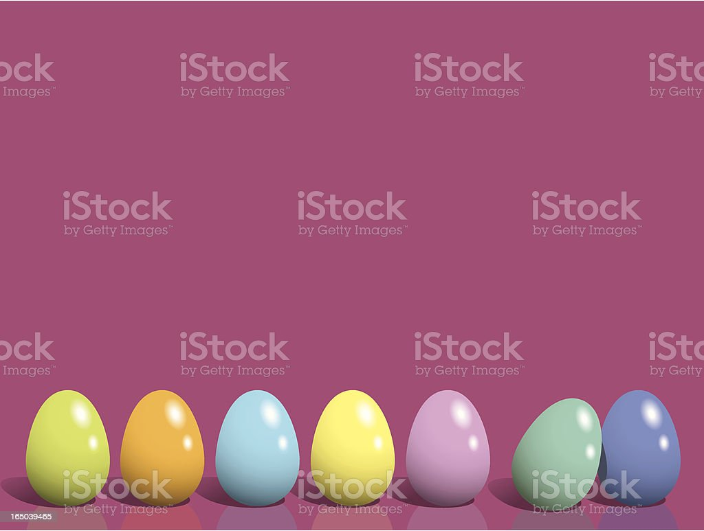 Easter Eggs Row royalty-free stock vector art