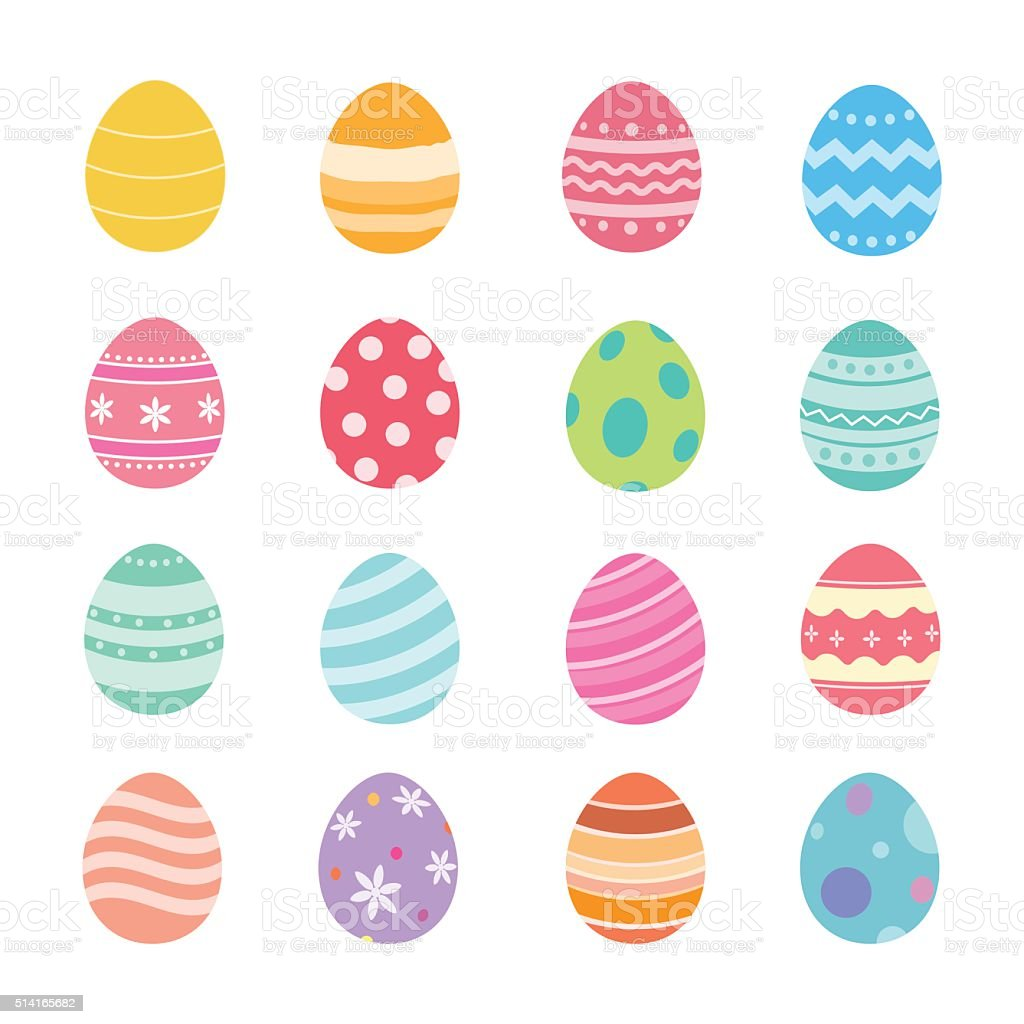 Easter eggs. vector art illustration