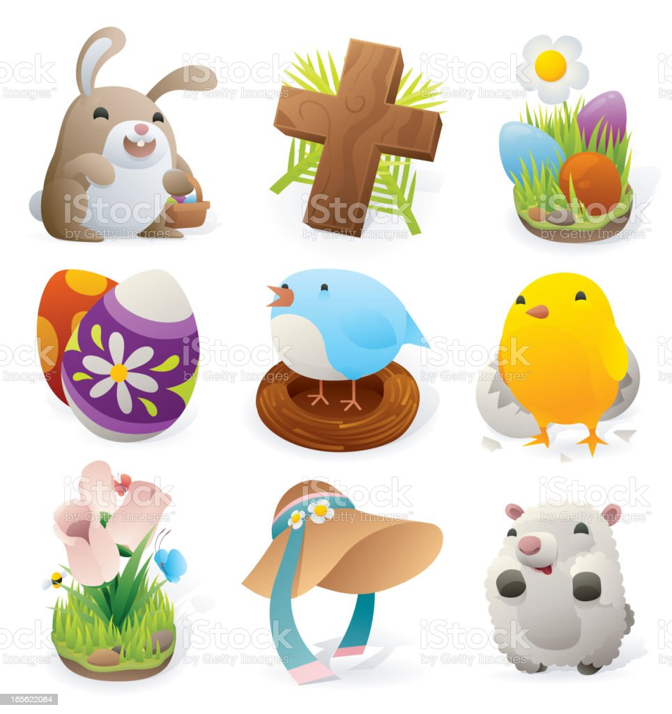Easter Elements vector art illustration