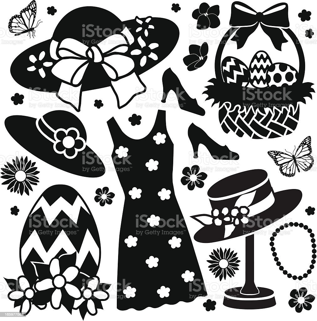 Easter fashion royalty-free stock vector art