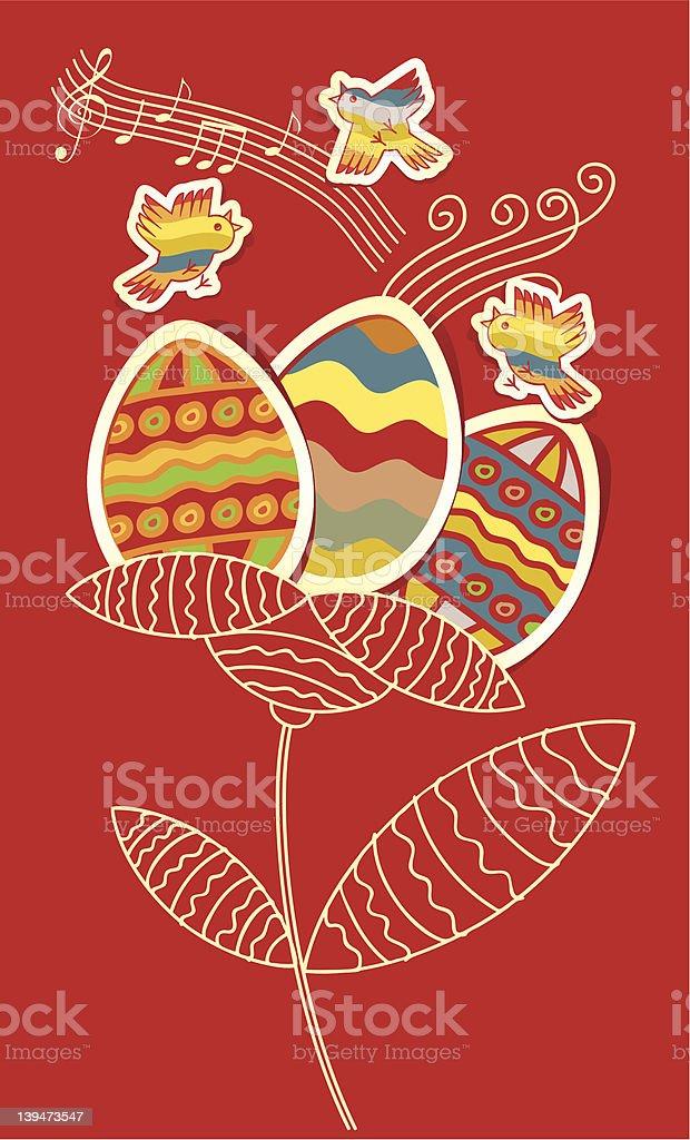 Easter flower royalty-free stock vector art