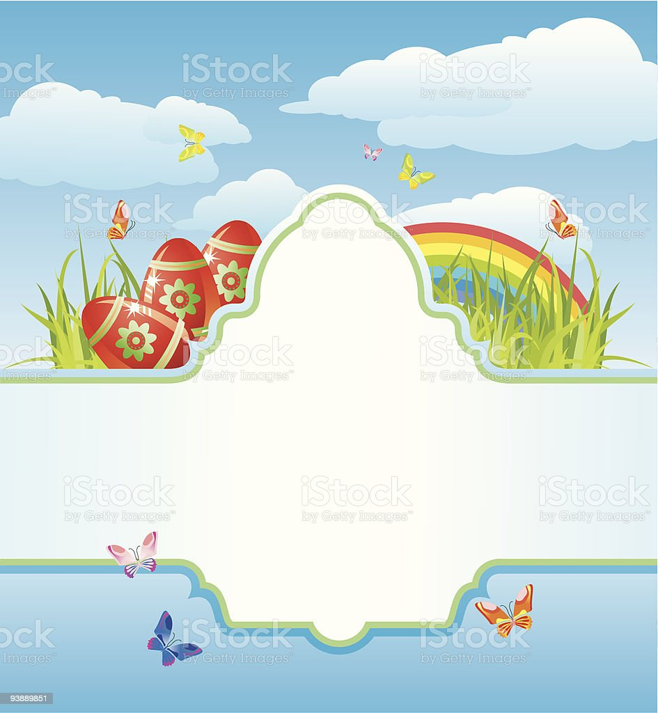 easter frame for your text / cmyk / vector royalty-free stock vector art