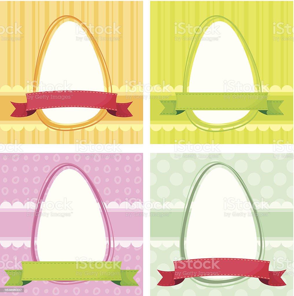 Easter frame royalty-free stock vector art