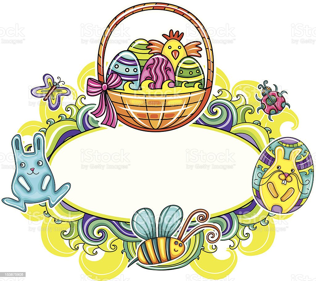 Easter framework royalty-free stock photo