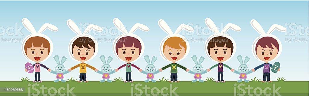 Easter fun royalty-free stock vector art