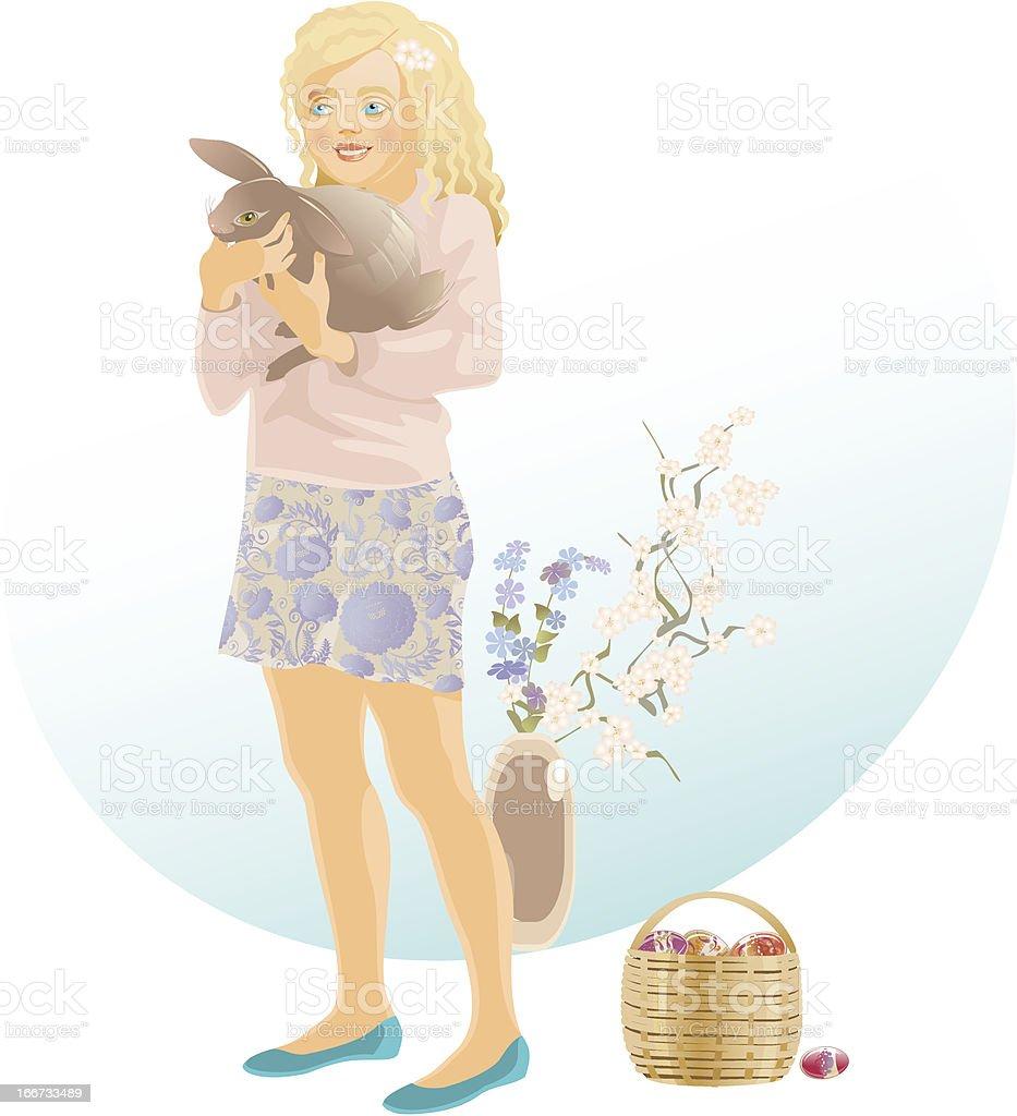 Easter girl royalty-free stock vector art