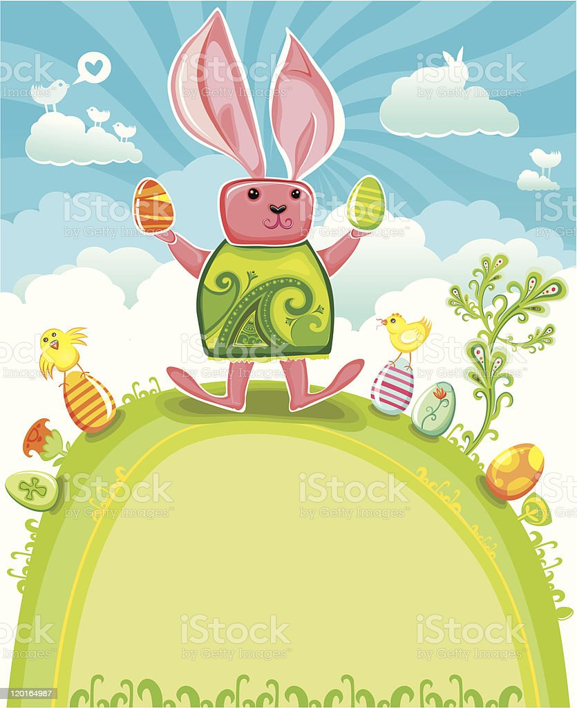 Easter greeting card series royalty-free stock vector art