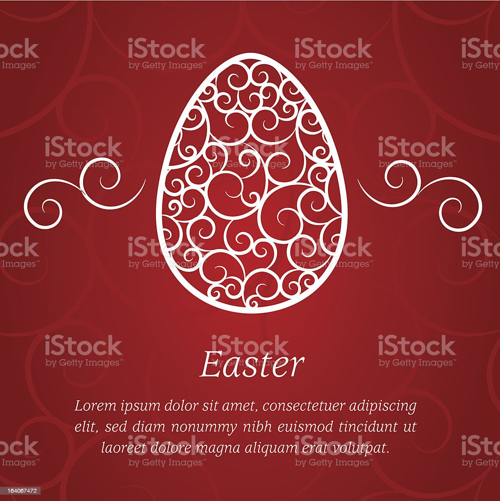 Easter greeting card royalty-free stock vector art