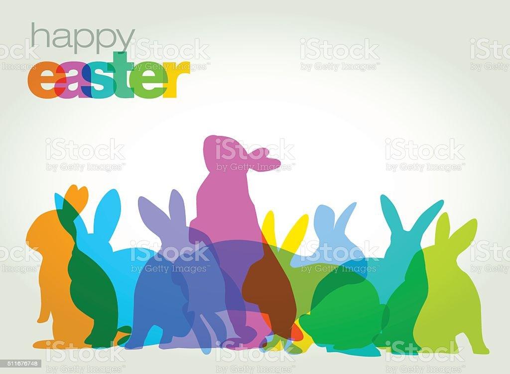 Easter Greeting Card vector art illustration