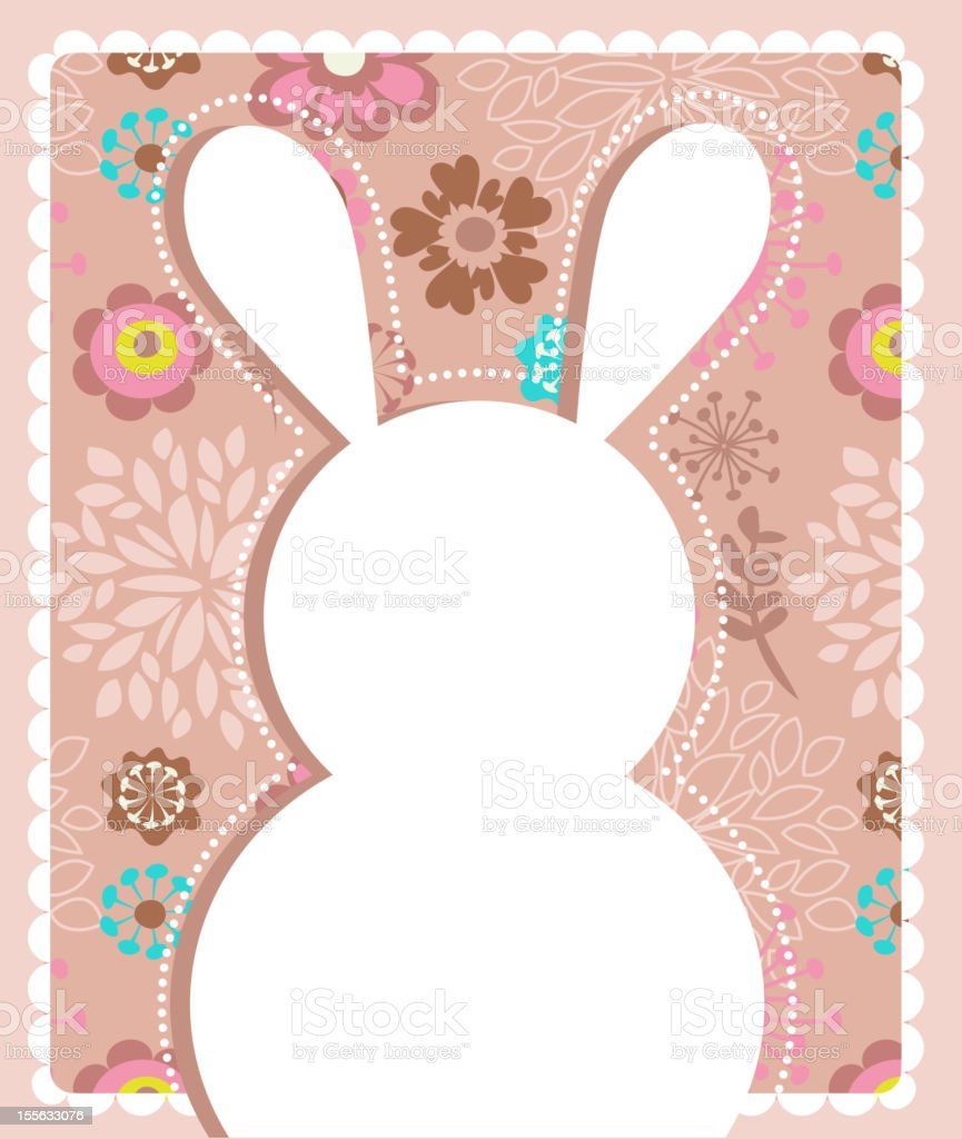 Easter greeting card with bunny royalty-free stock vector art