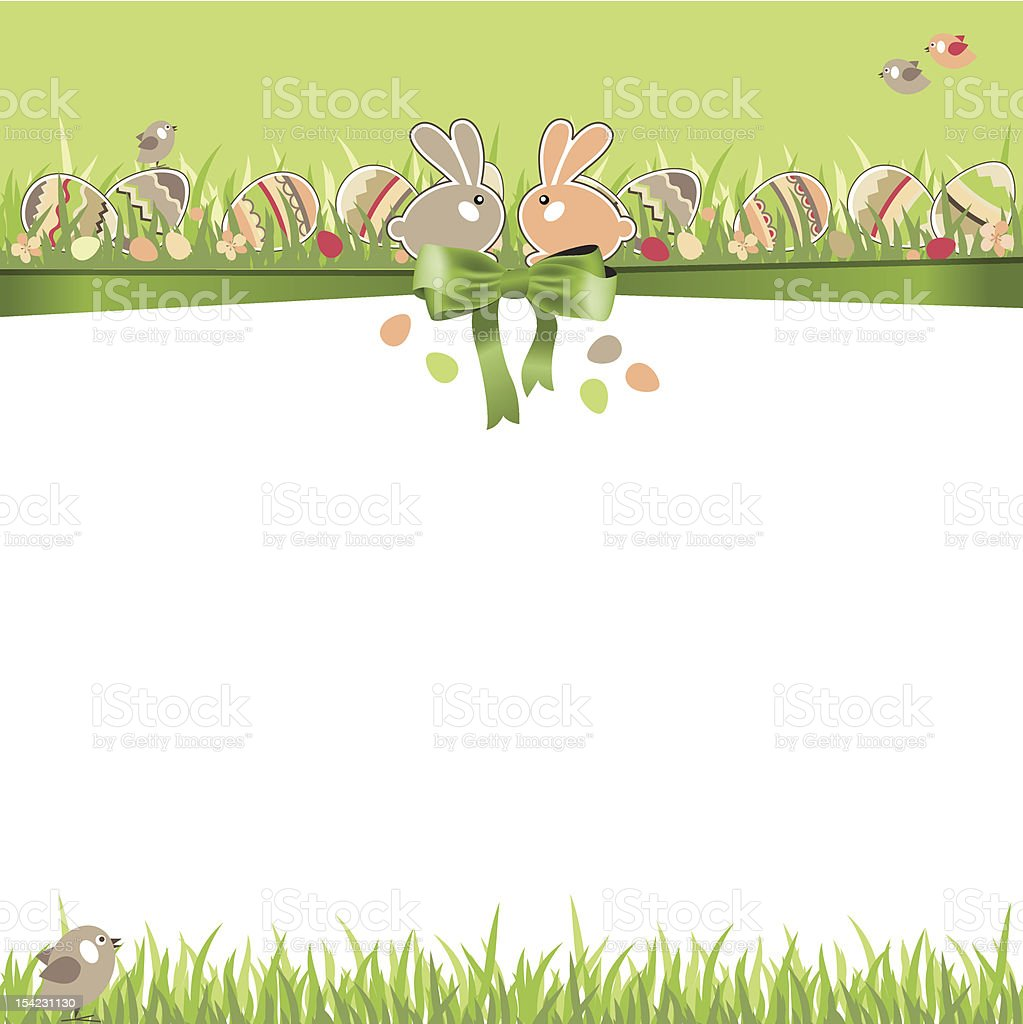 Easter greeting card with eggs royalty-free stock vector art