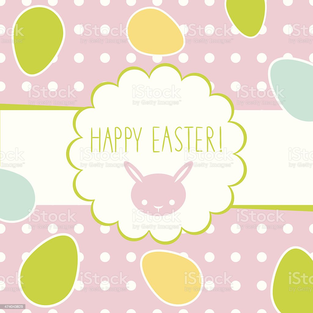Easter greeting decorative postcard royalty-free stock vector art