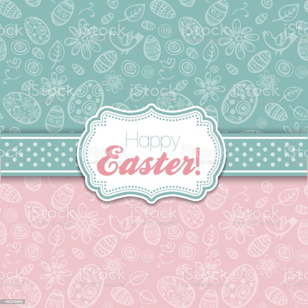 Easter greeting vector illustration vector art illustration