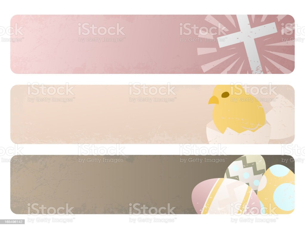 Easter Grunge Banners royalty-free stock vector art
