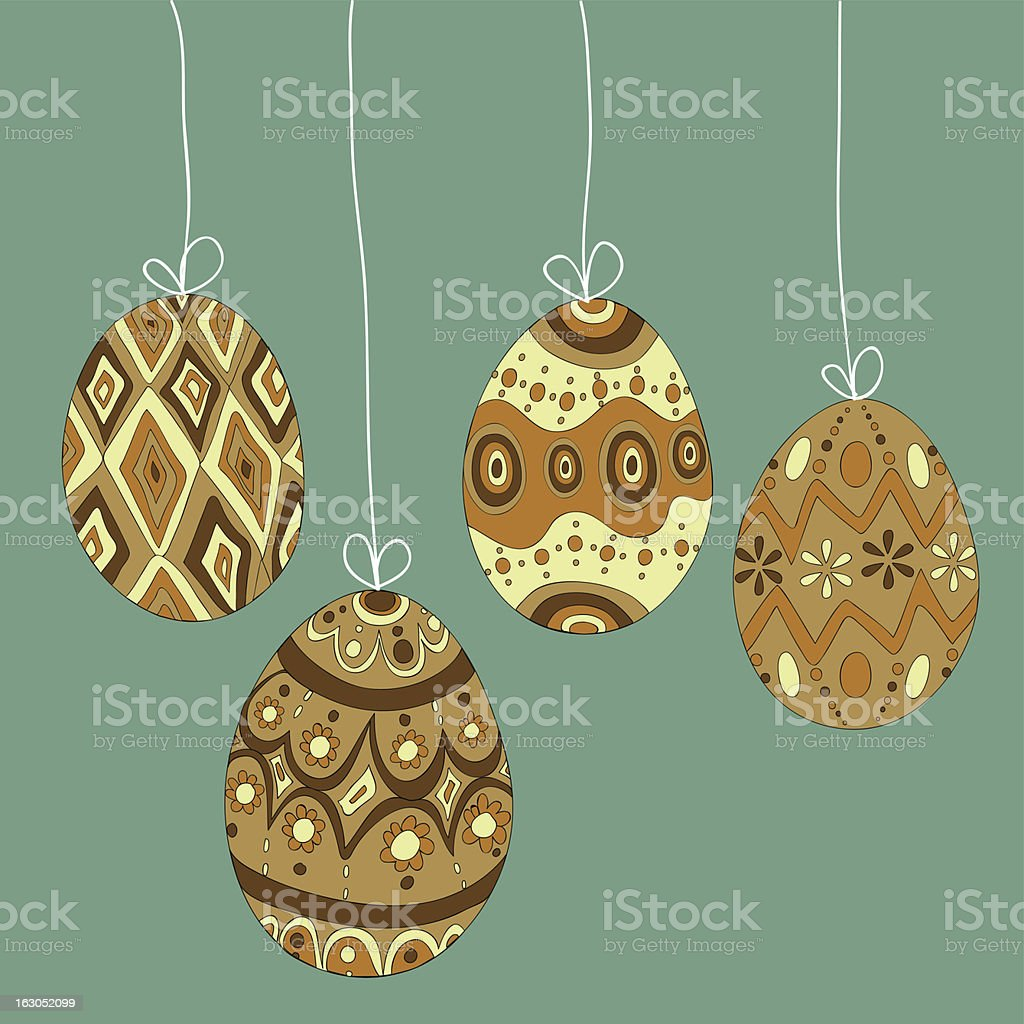 Easter hanging eggs royalty-free stock vector art