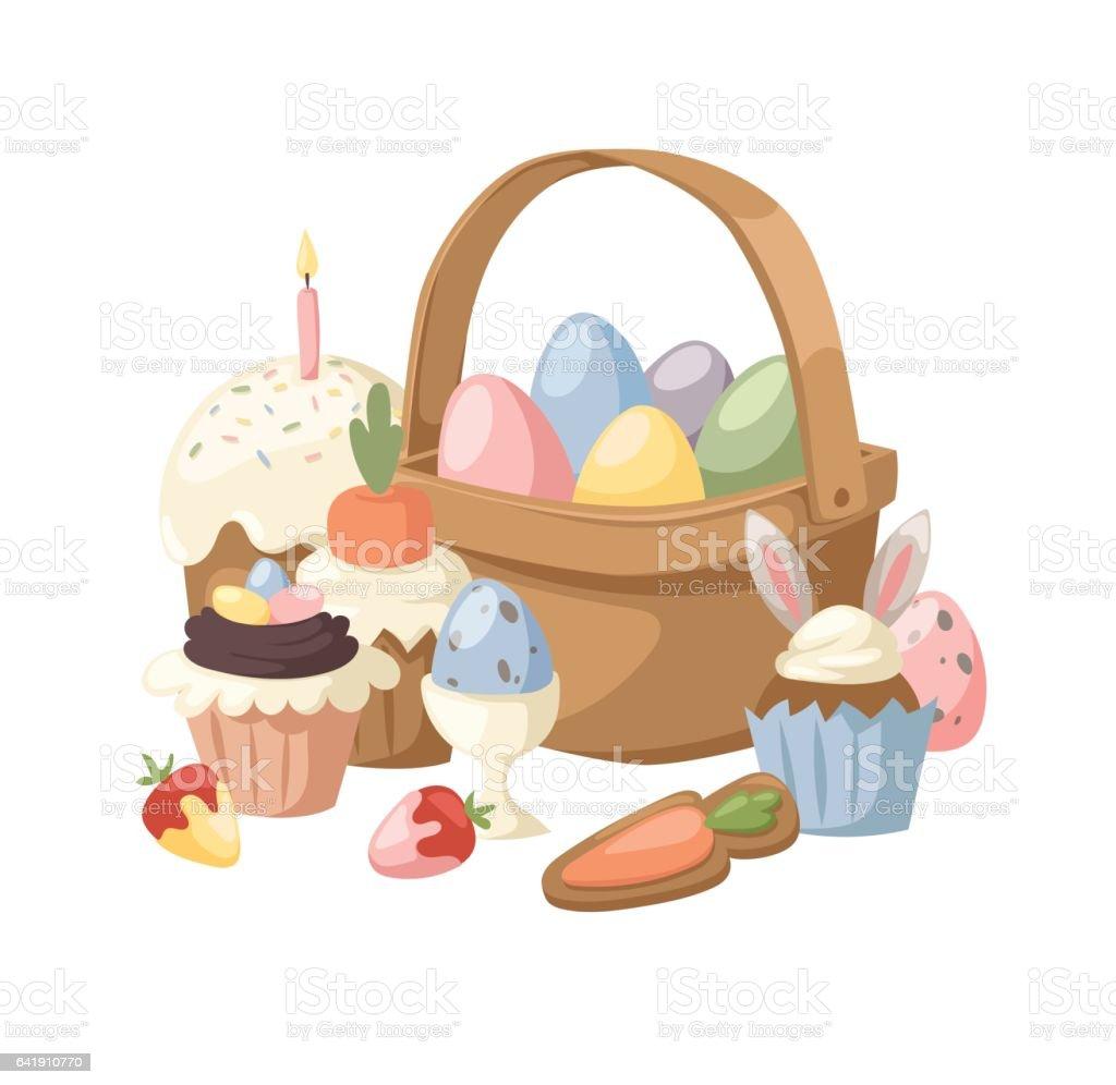 Easter holiday vector illustration vector art illustration