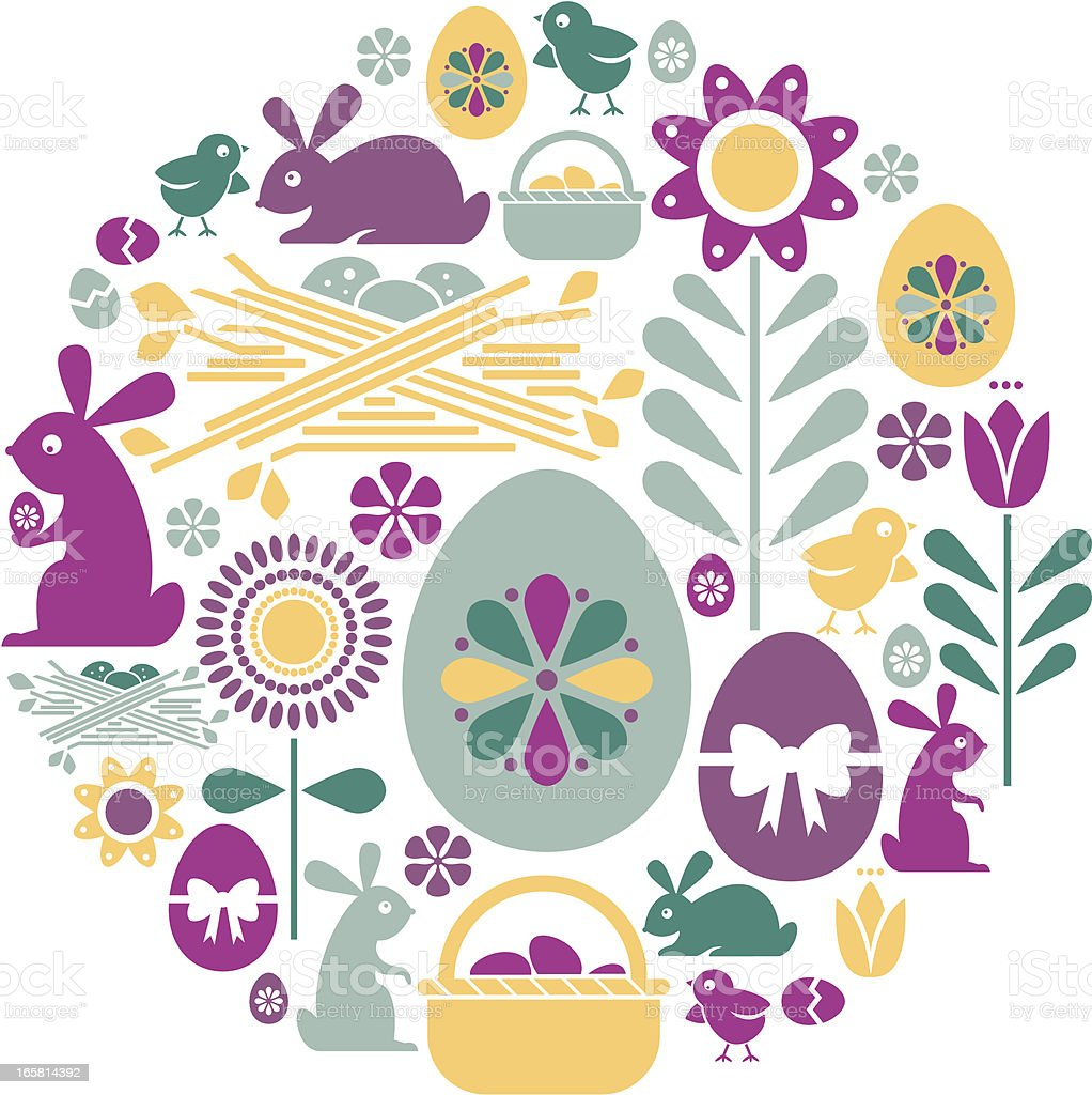 Easter Icon Montage royalty-free stock vector art