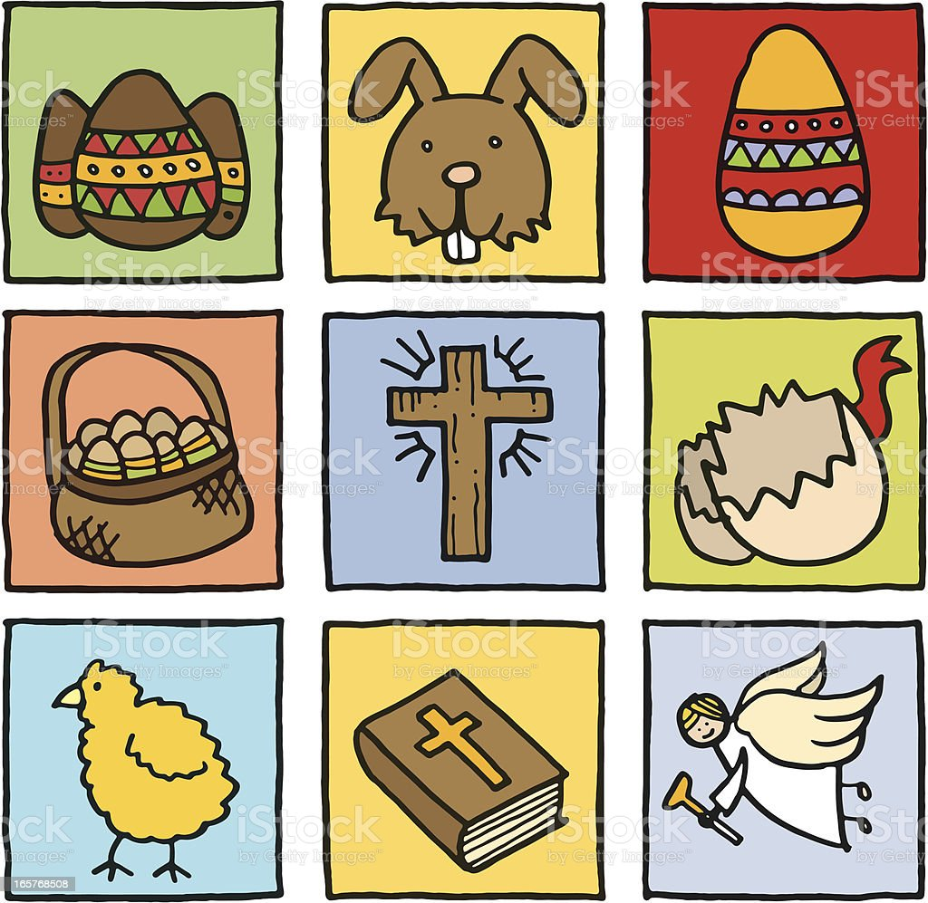 Easter icon set royalty-free stock vector art